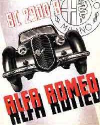 Плакат Alfa Romeo (1938 г.)