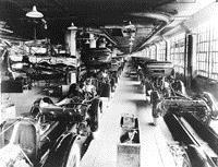 Конвейер на заводе Dodge