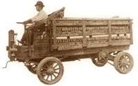Макс Грабовски на первом грузовике марки Rapid