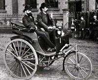Трехколесное самодвижущееся средство Карла Бенца (1885 год)