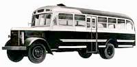 Автобус Mitsubishi в пятидесятых годах выглядел так