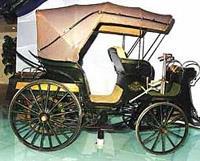 President — первый экипаж, не ставший симбиозом пролетки и бензинового мотора, а изначально спроектированный по автомобильным канонам (1897 г.)