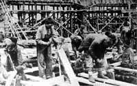 Осень 1941 года. Начало строительства цехов будущего УАЗа.