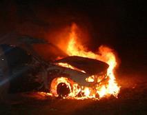 Сибиряк избежал эвакуации, спалив свой автомобиль, фото 1