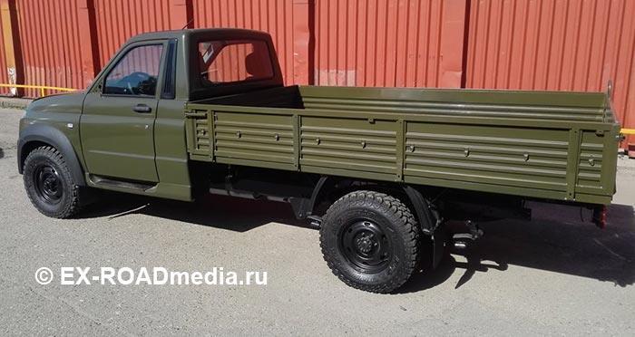 Вглобальной сети появились кадры гражданского автомобиля УАЗ «Профи»
