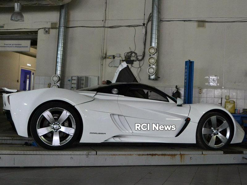 Всети интернет появились фото возрожденного спорткара Marussia