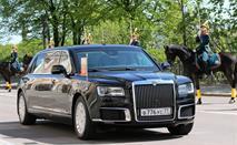 Появились фото салона нового российского седана Aurus