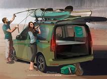 Volkswagen превратил новый Caddy в моторхоум